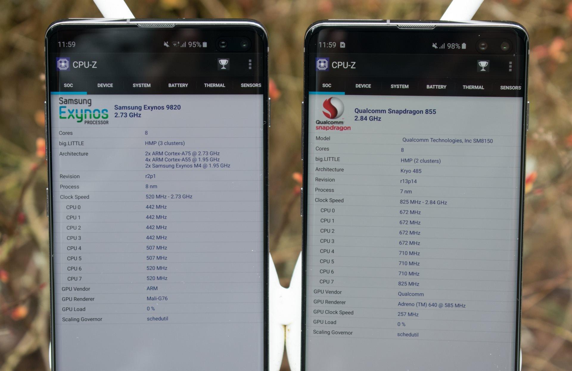 Image 1 : Galaxy S10+ : la version Snapdragon est meilleure que le modèle Exynos
