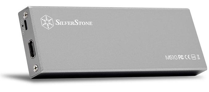 Image 1 : SilverStone : boîtier externe pour SSD SATA M.2 en USB Type-C, jusqu'à 10 Gbit/s