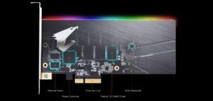 Image 1 : Le nouveau SSD PCI Express d'Aorus est très rapide... et bourré de LED RGB