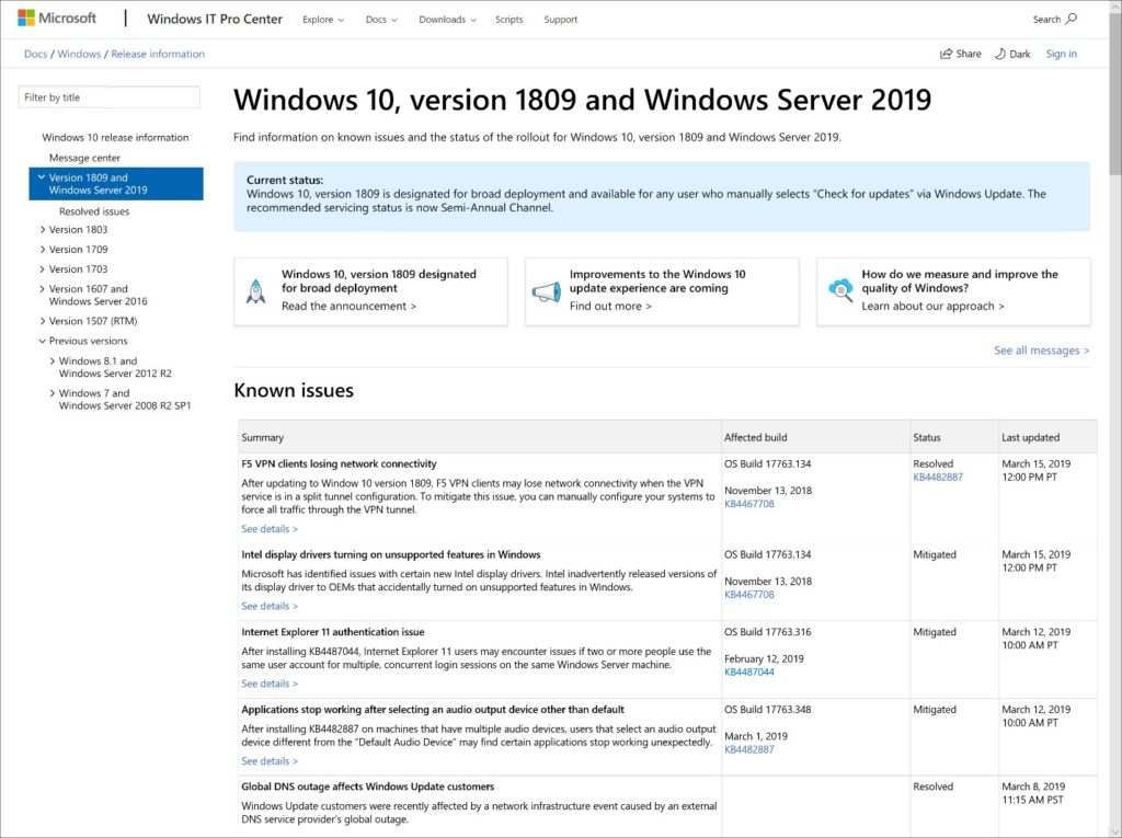 Image 2 : Windows 10 : fin des mises à jour forcées avec la May Update 2019