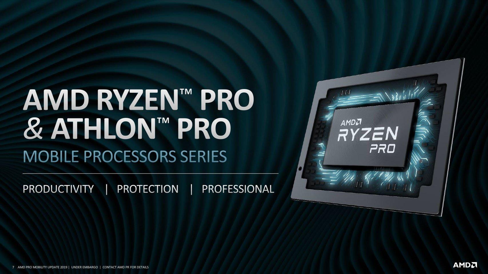 Image 14 : AMD sort sa deuxième génération de processeurs mobiles Ryzen PRO