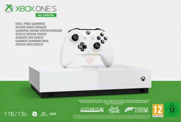 Image 2 : Xbox One S All Digital : une console sans lecteur de disques lancée le 7 mai à 229,99 euros ?
