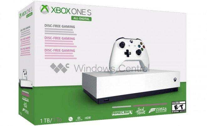 Image 1 : Xbox One S All Digital : une console sans lecteur de disques lancée le 7 mai à 229,99 euros ?