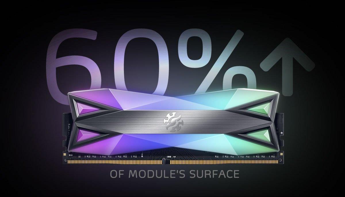 Image 1 : Adata XPG Spectrix D60G : de la DDR4 qui mise sur le RGB