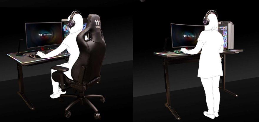 Image 3 : Thermaltake propose un bureau gamer motorisé au prix de 1200 dollars !