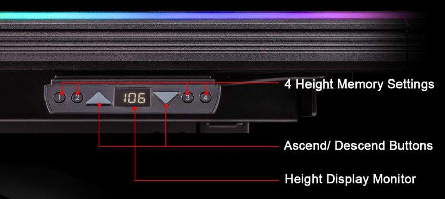 Image 2 : Thermaltake propose un bureau gamer motorisé au prix de 1200 dollars !