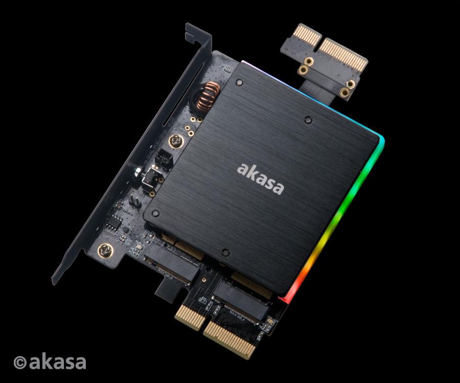 Image 1 : Un adapteur NVMe M.2 bardé d'effets RGB !