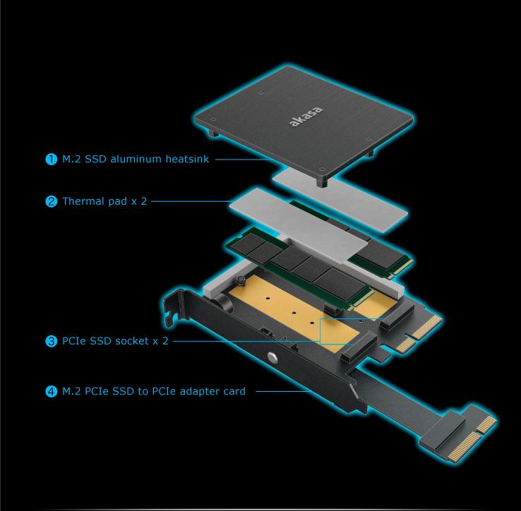 Image 3 : Un adapteur NVMe M.2 bardé d'effets RGB !
