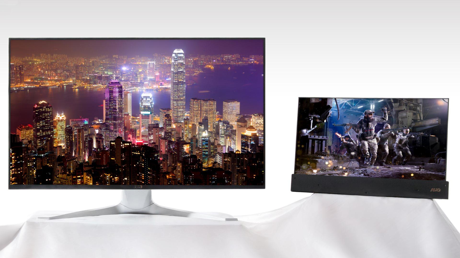 Image 1 : Ecrans : AUO présente du 32 pouces 4K mini LED à 1152 zones de rétroéclairage !