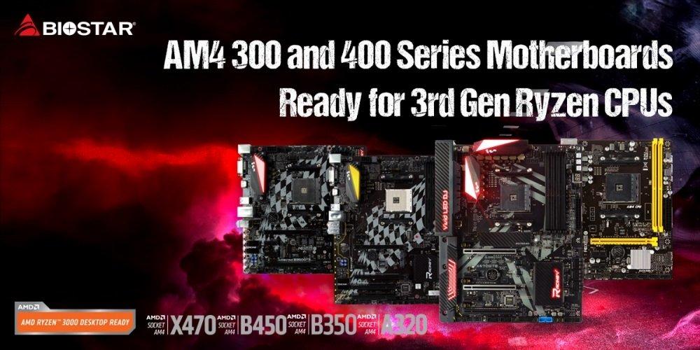 Image 1 : Biostar confirme la compatibilité des Ryzen 3000 avec les chipsets 300 et 400