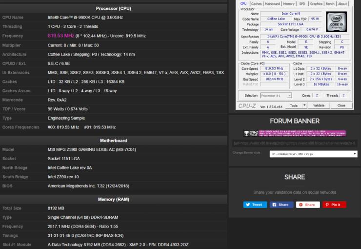 Image 1 : Nouveau record : DRAM overclockée en DDR4-5634 chez ADATA