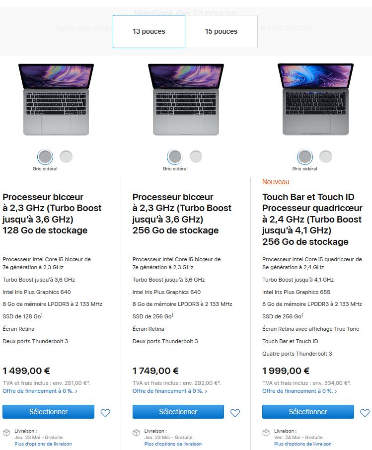 Image 3 : Nouveaux MacBook Pro : Core i9 à huit cœurs, et clavier corrigé