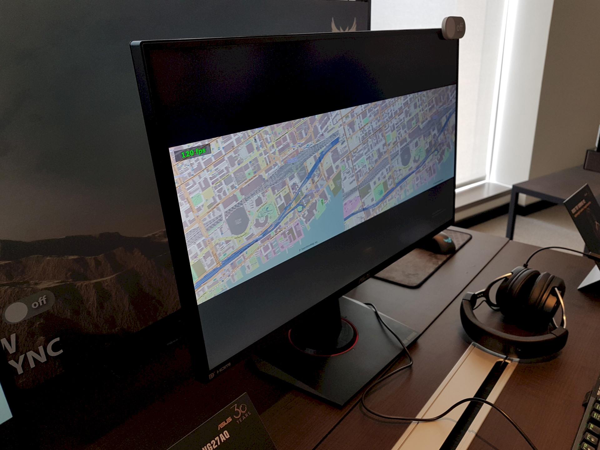 Image 1 : Computex : ELMB Sync, Asus touche au Graal de la netteté sur trois écrans gaming