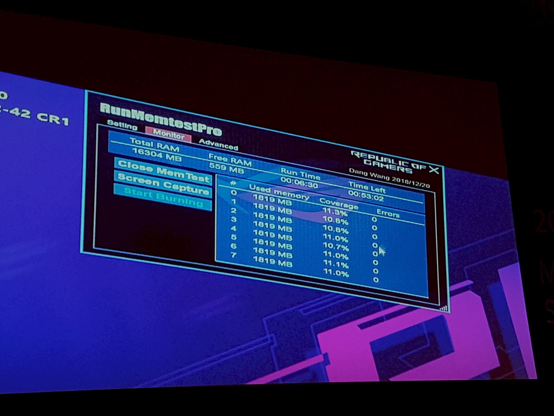 Image 2 : Computex : DRAM en DDR4-3800 sur Ryzen 2700X chez Asus, et bientôt 5000 ?
