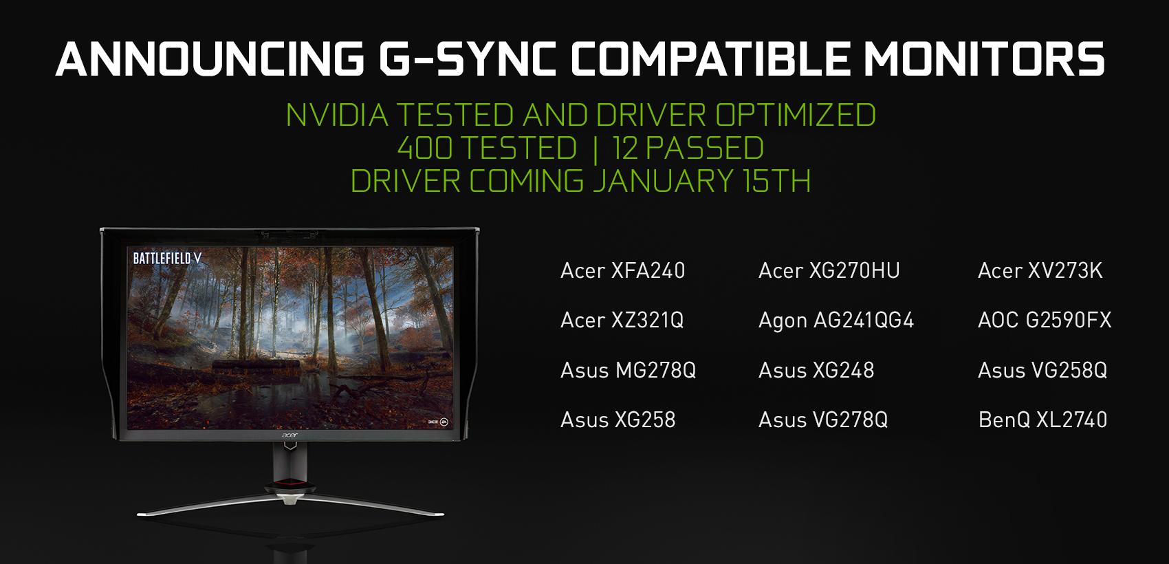 Image 1 : NVIDIA : premier bilan des tests de certification pour les écrans Adaptative-Sync