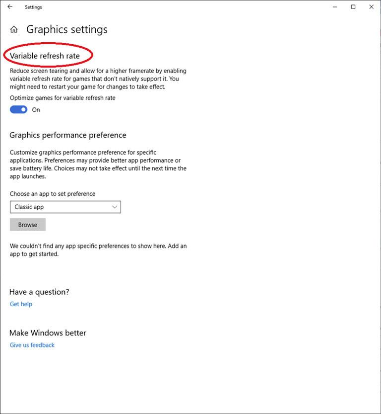 Image 1 : Microsoft étend le taux de rafraîchissement variable à tous les jeux DX11