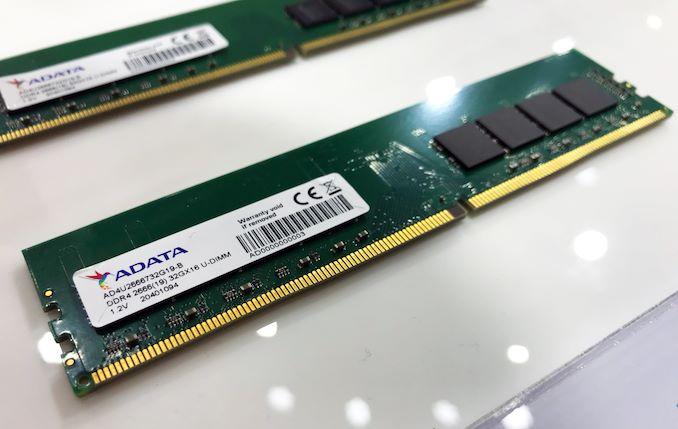 Image 1 : Adata présente des modules de 32 Go de mémoire DDR4