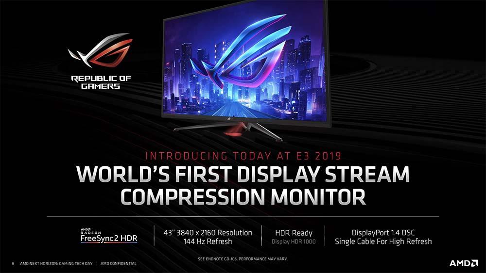 Image 1 : Asus signe le premier écran avec compression DisplayPort : 4K à 144 Hz !