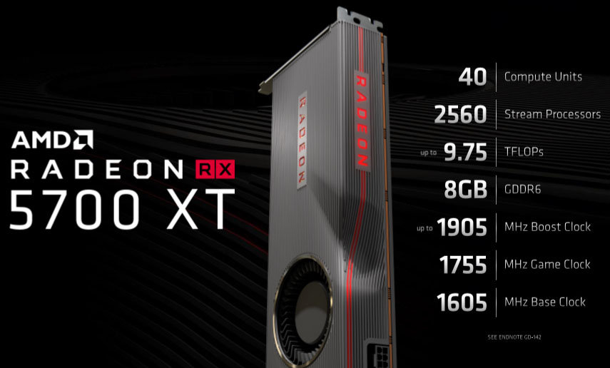 Image 1 : Radeon RX 5700 : pas de carte custom au lancement, premières photos réelles de la 5700 XT