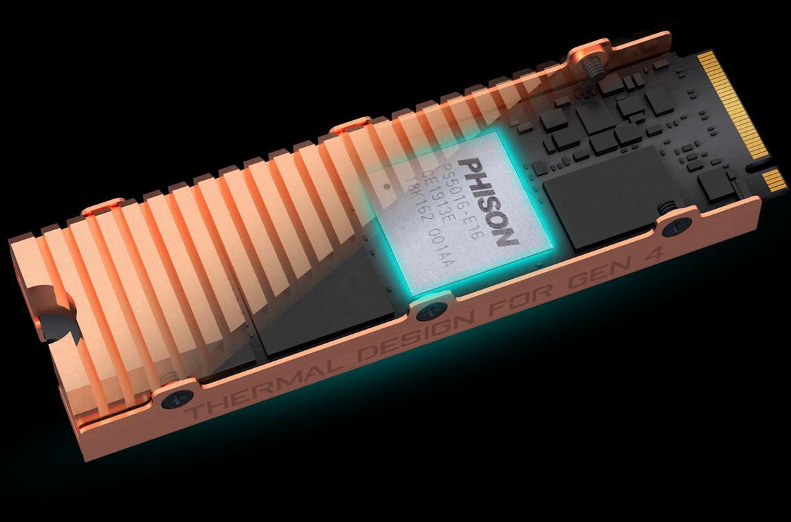 Image 6 : Gigabyte présente son SSD Aorus PCIe 4.0 avec un joli dissipateur thermique