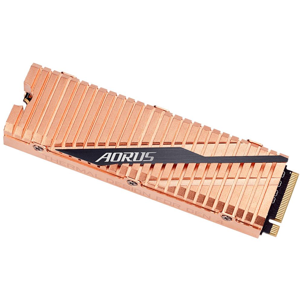 Image 1 : Gigabyte présente son SSD Aorus PCIe 4.0 avec un joli dissipateur thermique