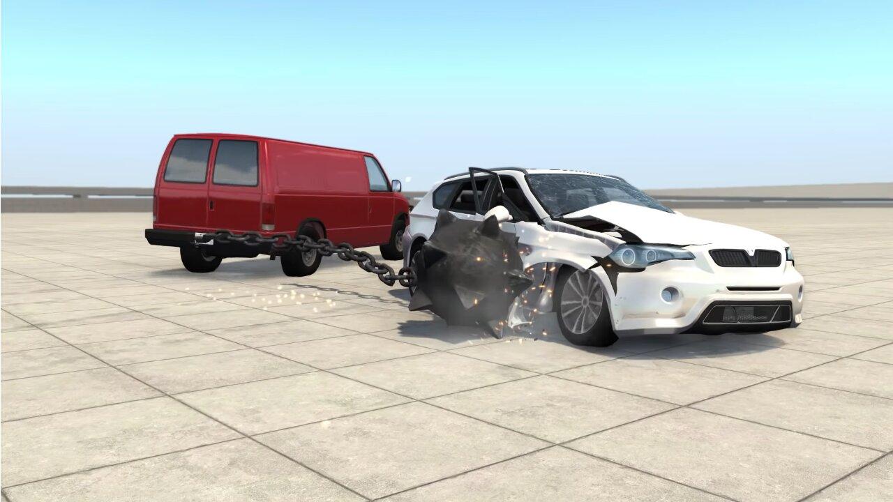 Image 1 : Vidéo : fascinante démo d'un moteur physique de conduite et destruction ultraréalistes