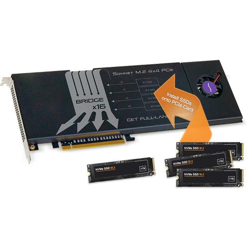 Image 3 : Sonnet : une carte PCIe qui peut embarquer quatre SSD M.2 pour monter à 12 Go/s