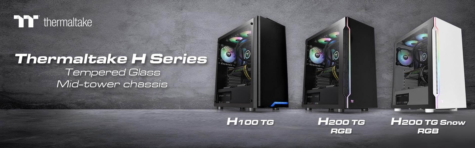 Image 1 : Thermaltake : trois nouveaux boîtiers avec verre trempé dans la série H