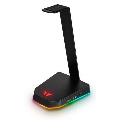 Image 1 : Thermaltake : un support de casque avec une base RGB et un hub USB