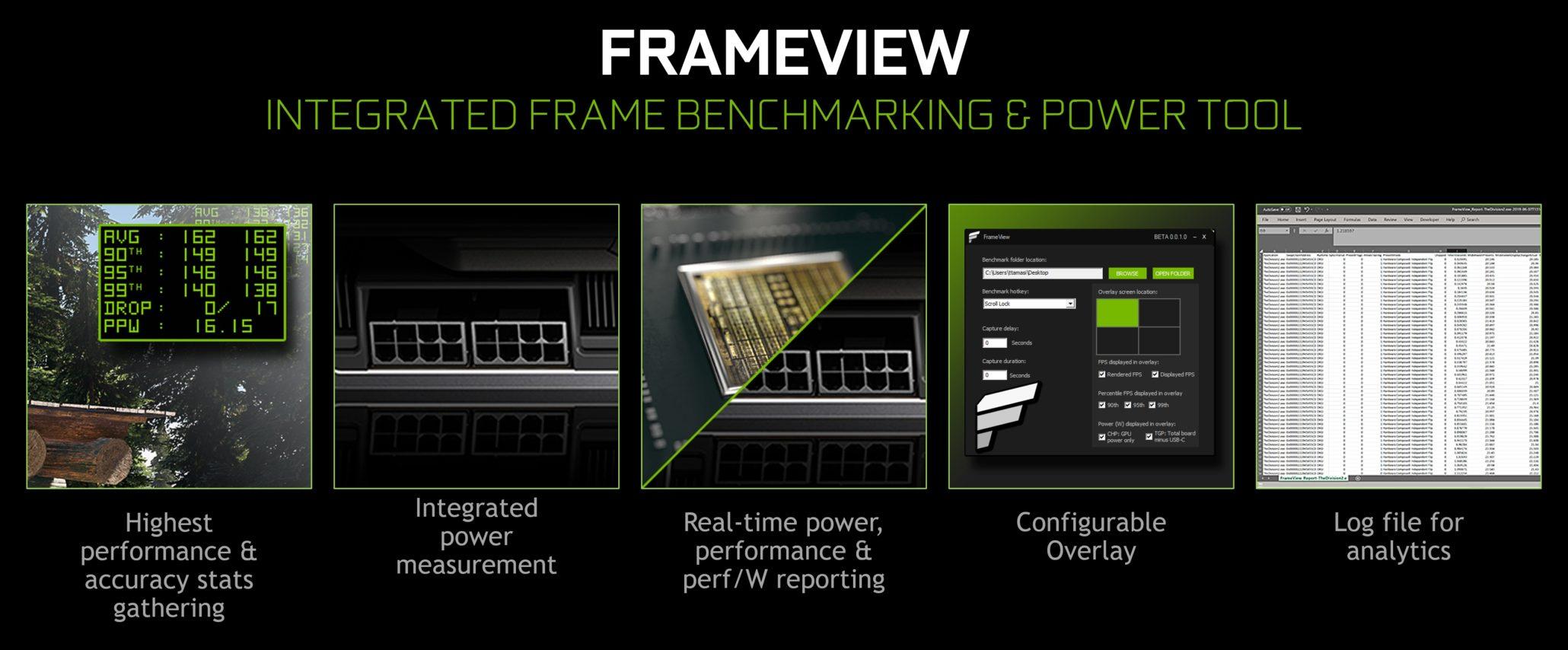 Image 1 : NVIDIA lance FrameView, une appli gratuite de bench pour les cartes graphiques