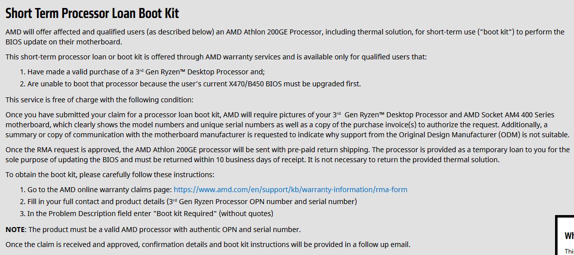 Image 2 : Ryzen 3000 : AMD prête un Athlon 200GE pour mettre à jour sa carte mère