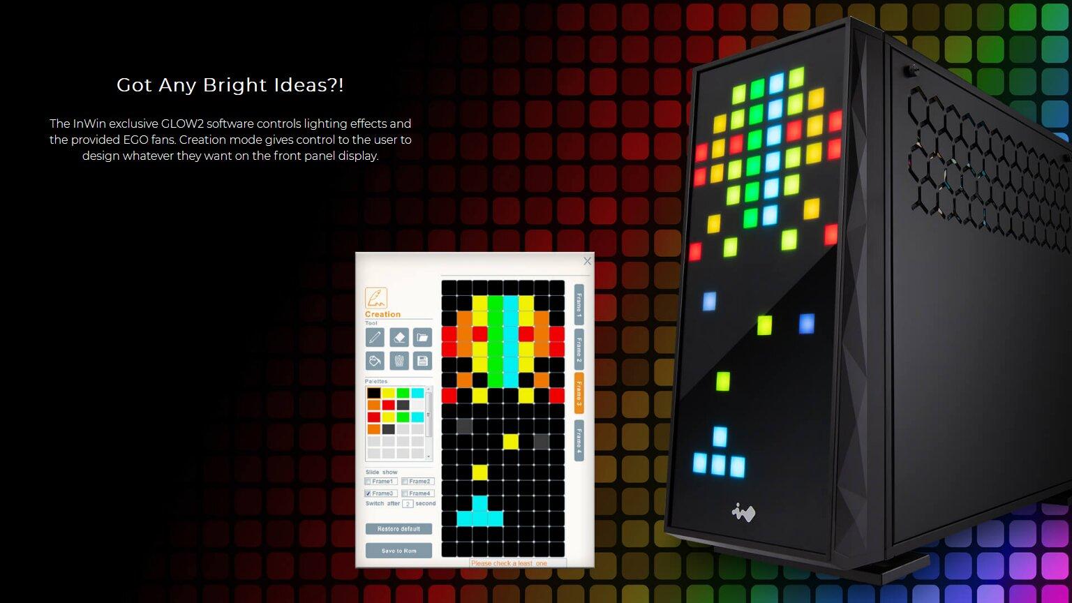 Image 5 : In Win 309, un boîtier avec 144 zones RGB en façade !