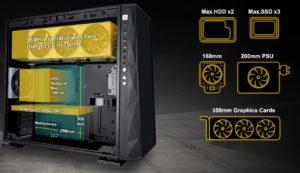 Image 4 : In Win 309, un boîtier avec 144 zones RGB en façade !