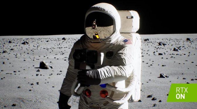 Image 1 : Vidéo : encore plus de ray tracing pour l'alunissage d'Apollo 11 de NVIDIA