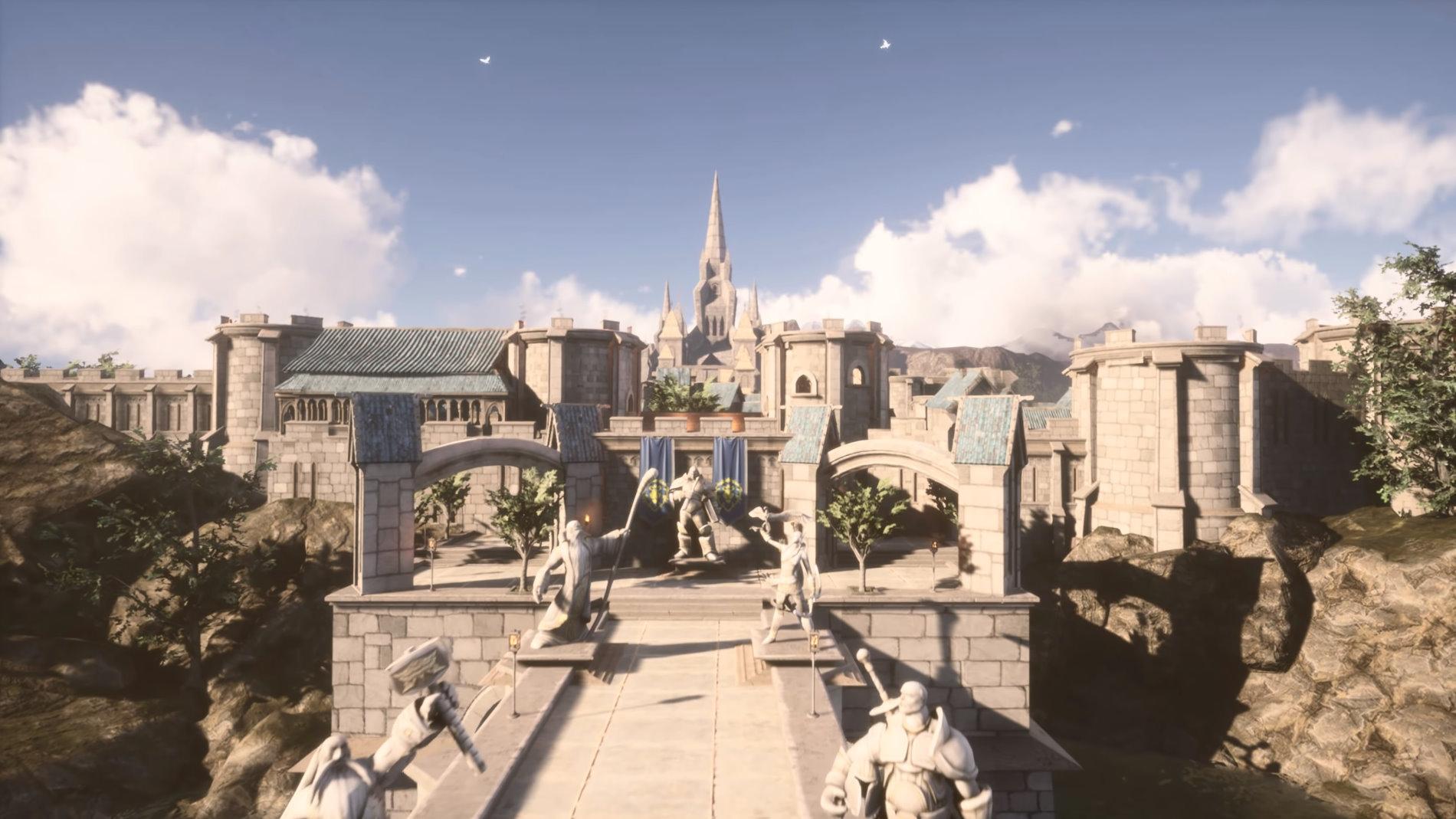 Image 1 : Vidéo : magnifique reconstruction de la capitale Stormwind de WoW sous UE4