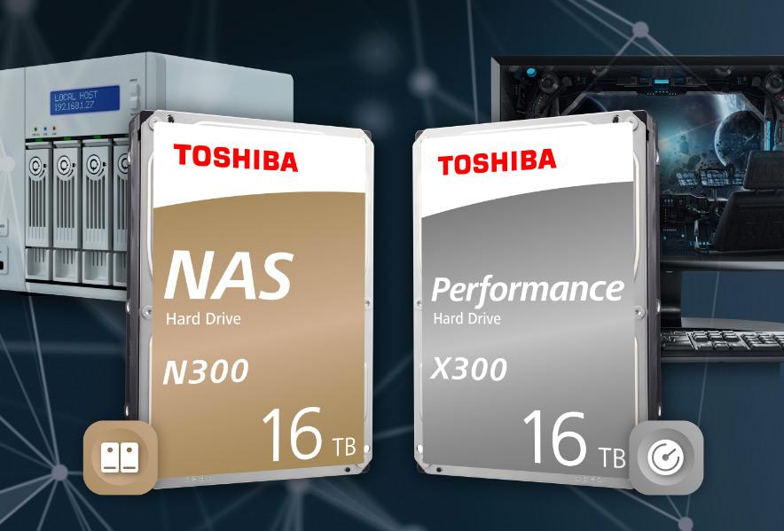 Image 1 : Les disques durs Toshiba N300 et X300 bientôt déclinés en version 16 To