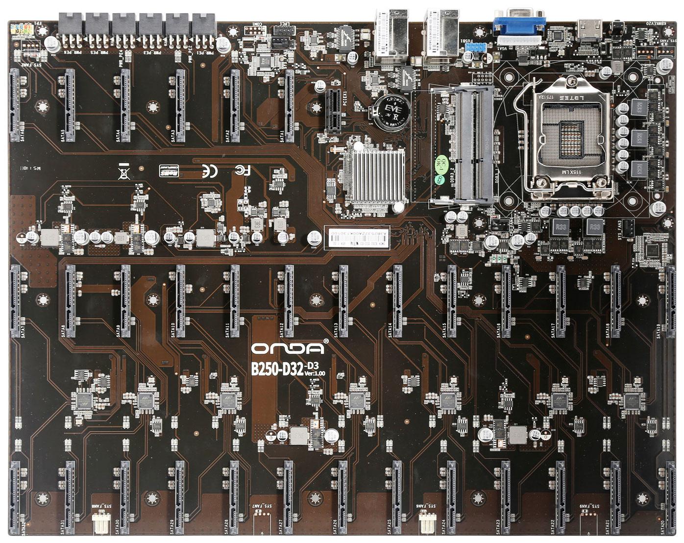 Image 1 : Une monstrueuse carte mère avec 32 ports SATA !