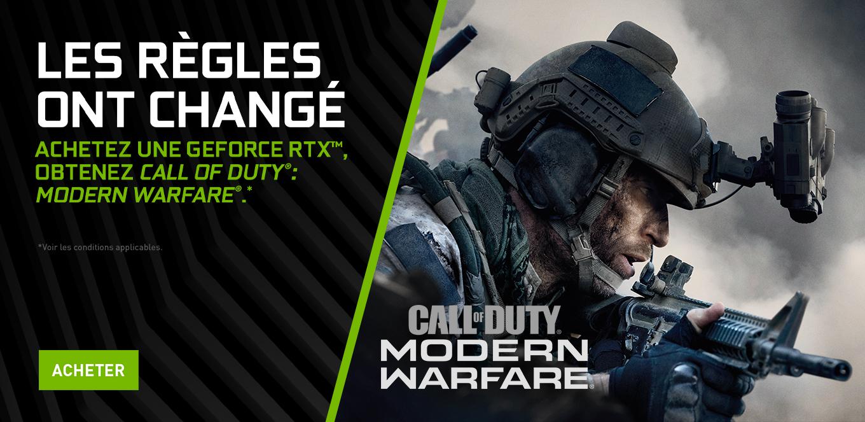 Image 1 : Call of Duty Modern Warfare offert avec les GeForce RTX jusqu'au 18 novembre