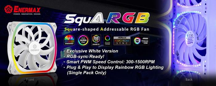Image 1 : Enermax habille ses ventilateurs SquA RGB de blanc