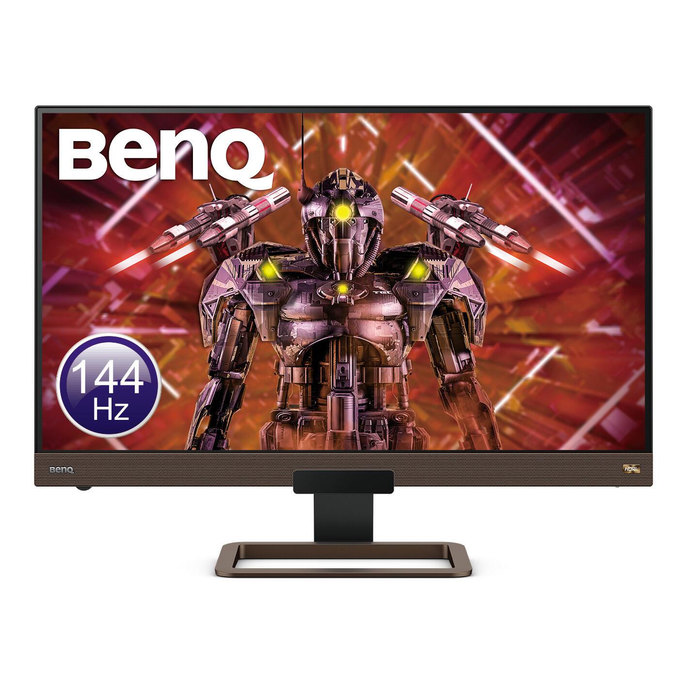 Image 1 : BenQ sort son écran EX2780Q : dalle HDR Quad HD à 144 Hz avec un système audio 2.1