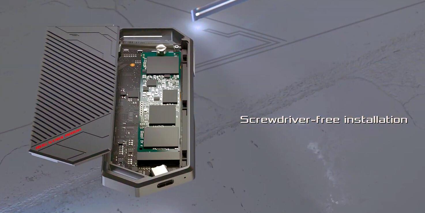Image 2 : Asus présente le ROG Strix Arion, un boîtier externe en mode RGB pour SSD M.2