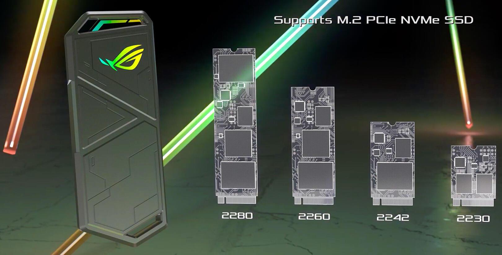 Image 3 : Asus présente le ROG Strix Arion, un boîtier externe en mode RGB pour SSD M.2