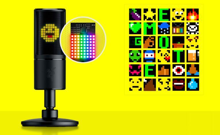 Image 2 : Razer Seiren Emote : un micro avec matrice intégrée pour afficher des émoticônes