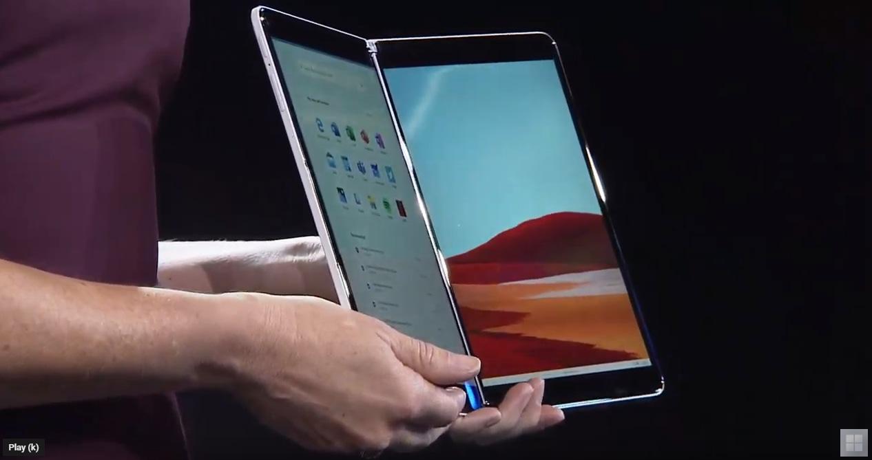 Image 1 : Microsoft Surface Neo : tout premier appareil sur SoC Intel Lakefield... fin 2020