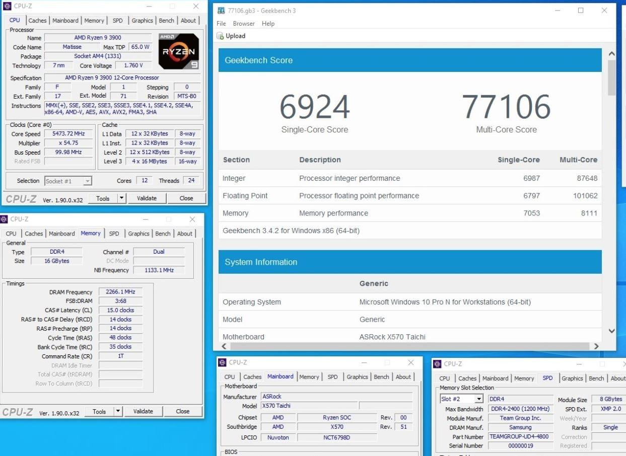 Image 4 : AMD : test du Ryzen 9 3900 à 65 W de TDP, qui monte à 160 W en pleine charge