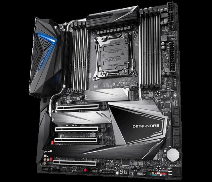 Image 4 : Gigabyte sort trois cartes mères Intel X299X, dont une avec son propre waterblock