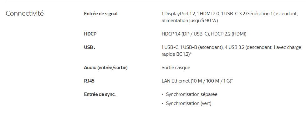Image 3 : Philips 346B1C : un écran ultralarge incurvé de 34 pouces pensé pour les pros