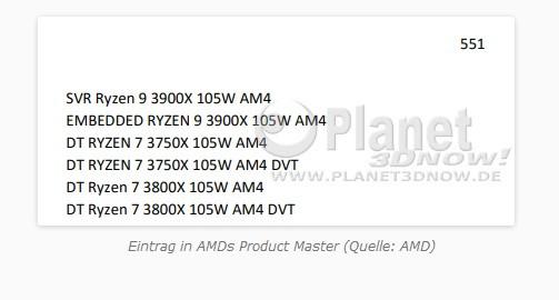 Image 2 : AMD : un nouveau processeur, le Ryzen 3750X, avec un TDP de 105 W ?
