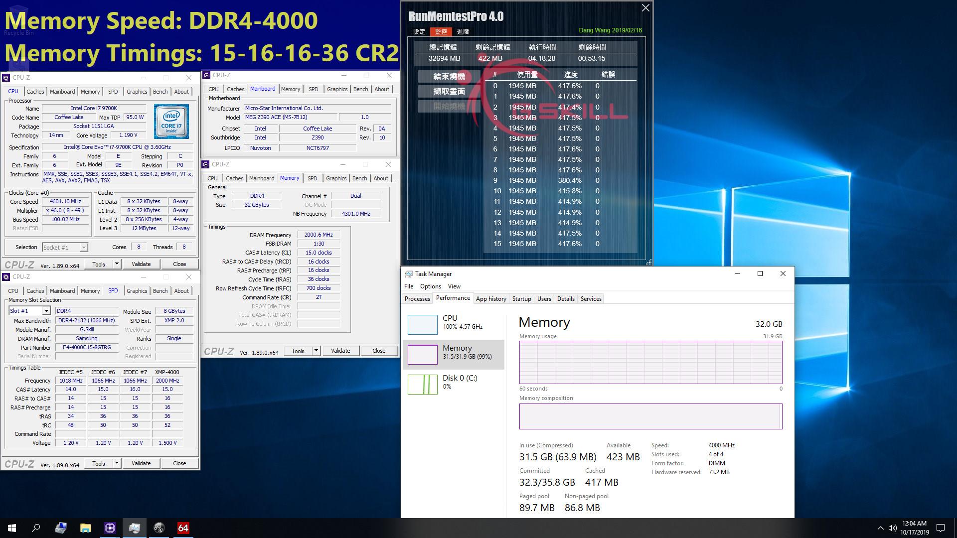 Image 4 : Record de timings : G.Skill présente un kit mémoire DDR4-4000 en CL15 !