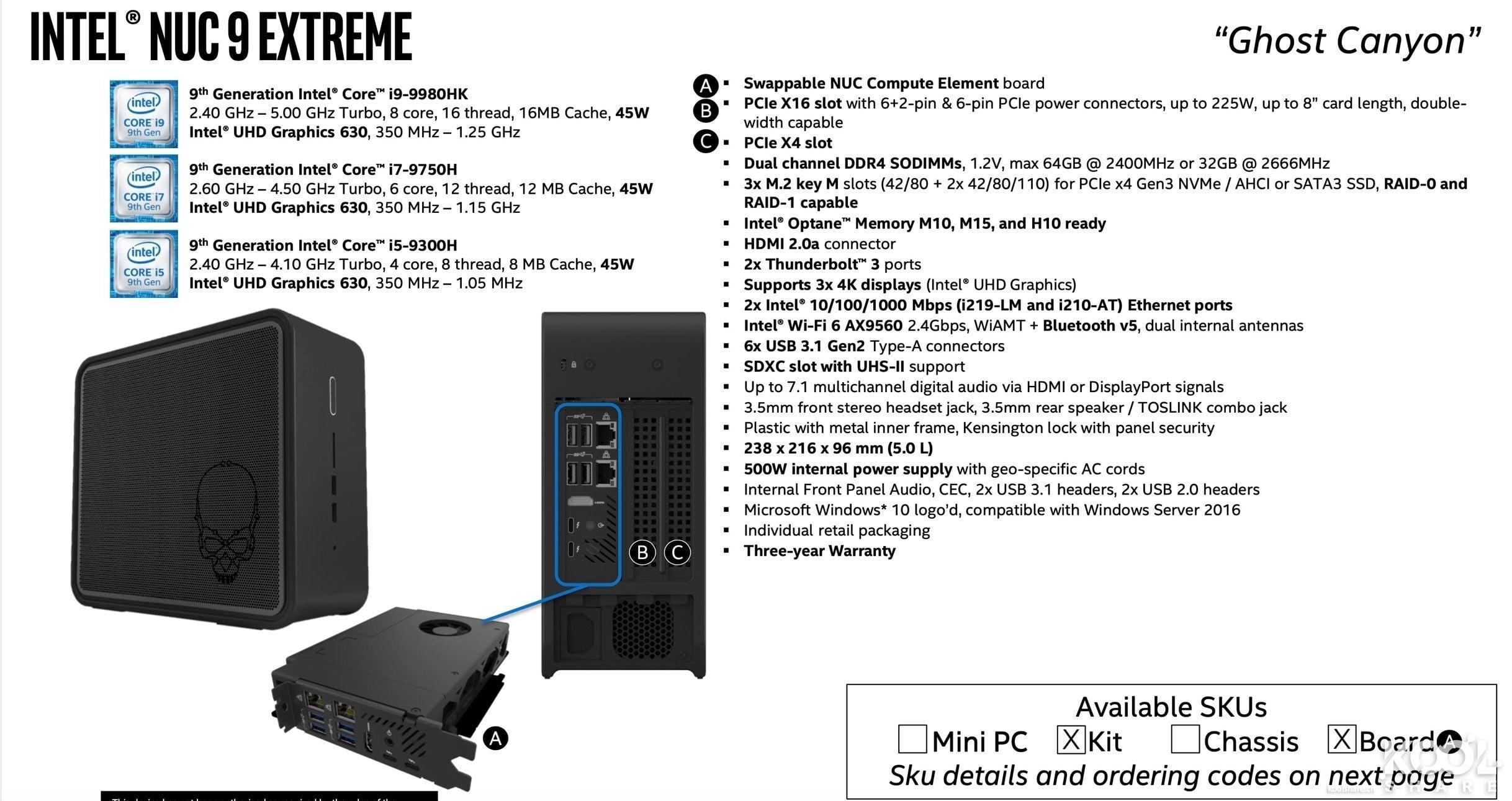 Image 1 : Mini PC : Intel installe The Element dans son futur NUC 9 Extreme